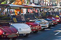 Row of Golf Cart Front Ends Stacked, cool, Custom, Classic, Unique,