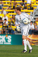 24 OCTOBER 2010:  Columbus Crew goalkeeper William Hesmer (1) during MLS soccer game against the Philadelphia Union at Crew Stadium in Columbus, Ohio on August 28, 2010.