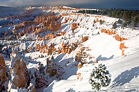 730750103 clearing winter snowstorm at sunrise over the hoodoos in bryce canyon national park utah