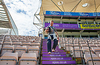 Adam Wheater of Essex walks to the field ready for the warm-up prior to Hampshire vs Essex Eagles, Vitality Blast T20 Cricket at the Ageas Bowl on 25th August 2019