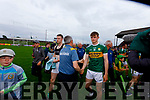 Kerry Manager Peter Keane with Darragh McGovern, Meath after the Football All-Ireland Senior Championship Quarter-Final Group 2 Phase 3 match between Kerry and Meath at Páirc Tailteann, Navan on Saturday.