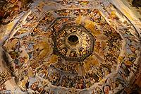 Italy, Florence Santa Maria del Fiore Church, Interior of the dome