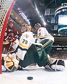 Ben Smith (BC - 12), Joe Fallon (Vermont - 29), Kevan Miller (Vermont - 15) - The Boston College Eagles defeated the University of Vermont Catamounts 4-0 in the Hockey East championship game on Saturday, March 22, 2008, at TD BankNorth Garden in Boston, Massachusetts.