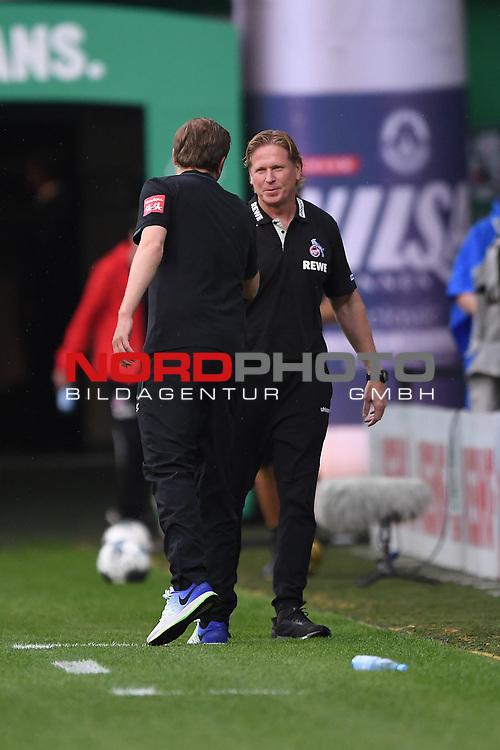 Trainer Markus Gisdol (1. FC Koeln) begruesst Trainer Florian Kohfeld (Werder Bremen).<br /> <br /> Sport: Fussball: 1. Bundesliga:: nphgm001:  Saison 19/20: 34. Spieltag: SV Werder Bremen - 1. FC Koeln, 27.06.2020<br /> <br /> Foto: Marvin Ibo Güngör/GES/Pool/via gumzmedia/nordphoto