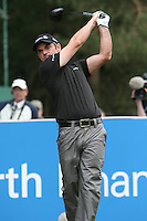Paul McGinley tees off on the 12th hole during the 3rd round of the 2008 BMW PGA Championship at Wentworth Club, Surrey, England 24th May 2008 (Photo by Eoin Clarke/GOLFFILE)