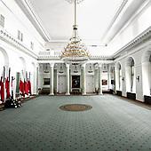 WARSZAWA, 28/06/2010: Wnetrze w palacu prezydenckim po katastrofie smolenskiej, w ktorej smierc poniosl prezydent Lech Kaczynski. <br /> Palac Prezydencki, Warszawa, Czerwiec 2010<br /> Fot: Piotr Malecki / Napo Images<br /> <br /> Warsaw, Poland, June 2010:<br /> The empty interior of Presidential Palace after Polish president Lech Kaczynski went for the flight that was to end in a crash. (Photo by Piotr Malecki / Napo Images)
