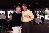 United States President Bill Clinton and Prime Minister Netanyahu of Israel during the Washington Summit at Wye River on Sunday, October 18, 1998..Mandatory Credit: White House via CNP