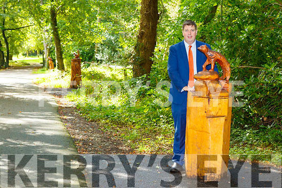 Cllr Niall Kelliher at the trail of animal statues  in Killarney national Park