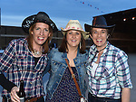 Sinead Reilly, Karen Lynch and Olivia Walsh pictured at the barn dance at Oberstown farm. Photo:Colin Bell/pressphotos.ie