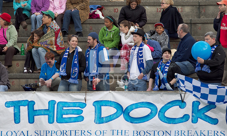Boston Breakers fans. In a Women's Professional Soccer (WPS) match, the Western New York Flash defeated the Boston Breakers, 2-1, at Harvard Stadium on April 17, 2011.
