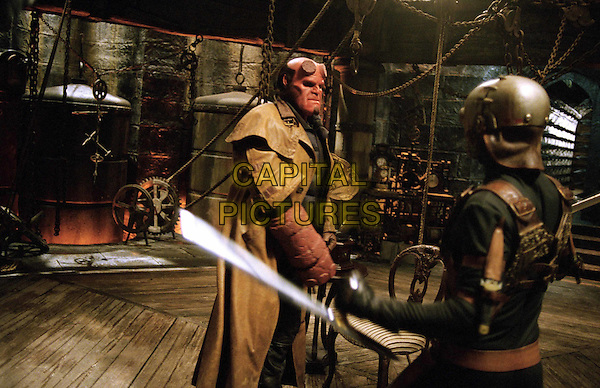 RON PERLMAN & LADISLAV BERAN.in Hellboy.Filmstill - Editorial Use Only.Ref: FB.www.capitalpictures.com.sales@capitalpictures.com.Supplied by Capital Pictures