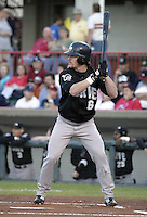 September 11, 2004:  Chris Duffy of the Altoona Curve, Double-A affiliate of the Pittsburgh Pirates, during a game at Jerry Uht Park in Erie, PA.  Photo by:  Mike Janes/Four Seam Images