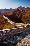 Great Wall of China in fall scenery. Badaling, Beijing, China.