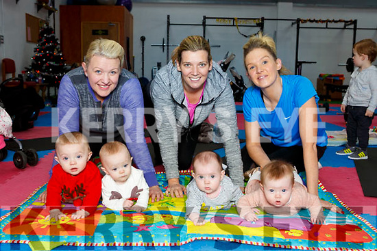 The Mums and Babies workout class who meet every Monday to exercise in New Street Studio Killarney l-r: Sarah, Roisin and Fionn Doona, Mary and Susie Brosnan, Charlene and Bella Brosnan
