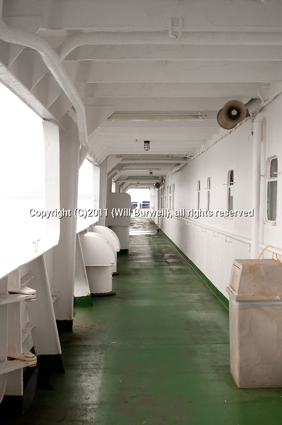 outside passageway on a ship