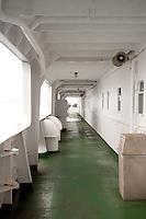 outside passageway on a ship
