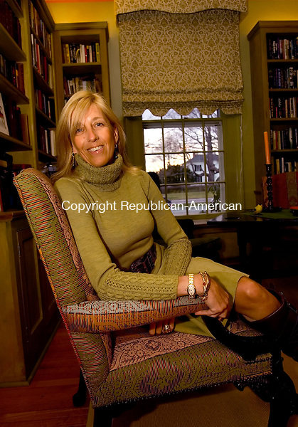 LITCHFIELD, CT--11 January 2007--101107JS23-Florence de Dampierre, author of Chairs in her Litchfield home.<br /> Jim Shannon / Republican-American