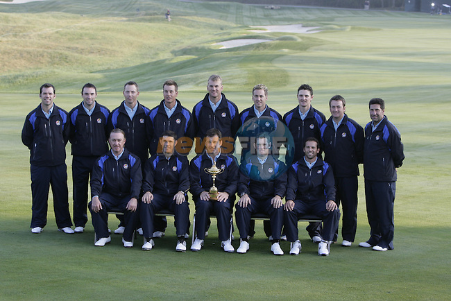 The 37th Ryder cup from Valhalla Golf Club in Louisville, Kentucky..Team Europe line out for there official picture...Photo: Fran Caffrey/www.golffile.ie.