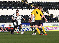 Sander Puri on the ball in the St Mirren v Falkirk Clydesdale Bank Scottish Premier League Under 20 match played at St Mirren Park, Paisley on 30.4.13.