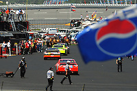 Apr 24, 2009; Talladega, AL, USA; NASCAR Sprint Cup Series drivers drive through the garage during practice for the Aarons 499 at Talladega Superspeedway. Mandatory Credit: Mark J. Rebilas-