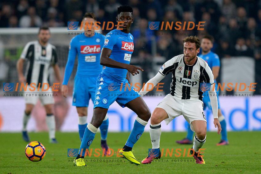 Amadou Diawara Napoli, Claudio Marchisio Juventus <br /> Torino 29-10-2016 Juventus Stadium Football Calcio Serie A 2016/2017 Juventus - Napoli . Foto Filippo Alfero Insidefoto