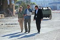 Beirut (2018) <br /> Rosamund Pike, Jon Hamm &amp; Larry Pine<br /> *Filmstill - Editorial Use Only*<br /> CAP/MFS<br /> Image supplied by Capital Pictures