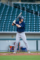 AZL Brewers center fielder Robert Henry (49) bats during a game against the AZL Cubs on August 6, 2017 at Sloan Park in Mesa, Arizona. AZL Cubs defeated the AZL Brewers 8-7. (Zachary Lucy/Four Seam Images)