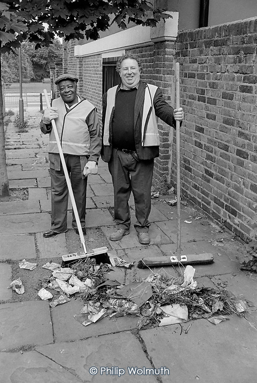 Camden Council street cleaners, London.