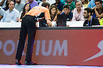 Referee checking the replay during Liga Endesa 2015/2016 Finals 3rd leg match at Barclaycard Center in Madrid. June 20, 2016. (ALTERPHOTOS/BorjaB.Hojas)