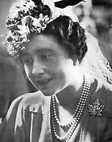 01 July 2017 - London, England - Royal Collection photograph dated 4/6/1939 of Queen Elizabeth II in Winnipeg, wearing the maple leaf brooch given to her by her husband King George VI, to mark their visit to Canada in 1939. The brooch, made of platinum, set with diamonds,  has been worn in Canada by Queen Elizabeth, the Queen Mother; by Princess Elizabeth for her first visit in 1951, Camilla the Duchess of Cornwall in 2009 and Kate the Duchess of Cambridge in 2011. Photo Credit: Alpha Press/AdMedia