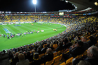 A general view from the west stand during the Super 15 rugby match between the Hurricanes and Highlanders at Westpac Stadium, Wellington, New Zealand on Saturday, 17 March 2012. Photo: Dave Lintott / lintottphoto.co.nz