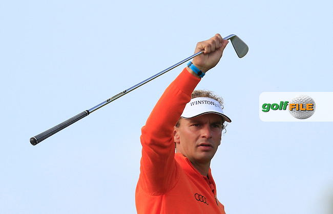 Joost Luiten (NED) on the 2nd fairway during Round 4 of the 2015 KLM Open at the Kennemer Golf &amp; Country Club in The Netherlands on 13/09/15.<br /> Picture: Thos Caffrey | Golffile