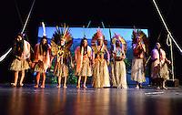 MIAMI, FL - SEPTEMBER 29: Wannu, Yawavana, KenewecÌ, Matsa Hushahu,  Meu, Matsini, Pek˙ti and Hukena performs during the Journey to Mutum: A Cultural Encounter with the Yawanaw· Tribe of the Brazilian Amazon at Miami Theater Center on September 29, 2016 in Miami, Florida. Credit: MPI10 / MediaPunch
