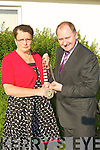 Marie Gorman of FF who handed over her chin of offiuc to incoming Lord Mayor of Listowel Town Council Tom Walsh (FF) on Monday evening..