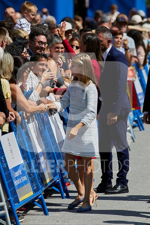 Queen Letizia of Spain and Princess Leonor of Spain visit Covadonga, Spain. September 08, 2018. (ALTERPHOTOS/A. Perez Meca)