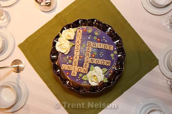 Ottawa - Bergen Wilde, Anastasia's wedding; 8.18.2007. scrabble cake