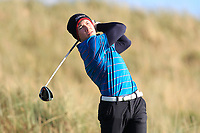 Sean Downes (Royal Dublin) on the 11th tee during Round 3 of the Ulster Boys Championship at Royal Portrush Golf Club, Valley Links, Portrush, Co. Antrim on Thursday 1st Nov 2018.<br /> Picture:  Thos Caffrey / www.golffile.ie<br /> <br /> All photo usage must carry mandatory copyright credit (&copy; Golffile | Thos Caffrey)