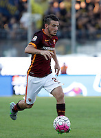 Calcio, Serie A: Frosinone vs Roma. Frosinone, stadio Comunale, 12 settembre 2015.<br /> Roma&rsquo;s Alessandro Florenzi in action during the Italian Serie A football match between Frosinone and Roma at Frosinone Comunale stadium, 12 September 2015.<br /> UPDATE IMAGES PRESS/Isabella Bonotto