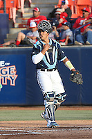 Alex Gomez (29) of the University of San Diego Toreros during a game against the Cal State Fullerton Titans at Goodwin Field on April 5, 2016 in Fullerton, California. Cal State Fullerton defeated University of San Diego, 4-2. (Larry Goren/Four Seam Images)