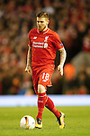 Alberto Moreno of Liverpool during the UEFA Europa League match at Anfield. Photo credit should read: Philip Oldham/Sportimage