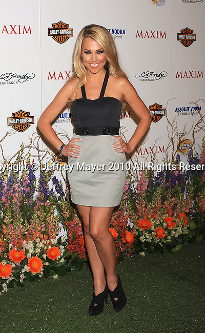 LOS ANGELES, CA. - May 19: Jessica Hall arrives at the 11th Annual MAXIM HOT 100 Party at Paramount Studios on May 19, 2010 in Los Angeles, California.