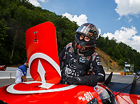 Jun 17, 2017; Bristol, TN, USA; NHRA funny car driver Jonnie Lindberg during qualifying for the Thunder Valley Nationals at Bristol Dragway. Mandatory Credit: Mark J. Rebilas-USA TODAY Sports