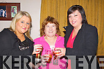 DELIGHTED: Eimer O'Brien (Ballyheigue), Sheila O'Halloran and Linda O'Leary (Causeway) hoping 2012 will be a better year than 2011 as the celebrate the end of 2011 and bring in 2011 on Saturday night in Harty's Bar, Causeway...