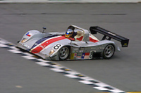 The #8 Lola Nissan of Anthony Lazzaro, Ralf Kelleners, Bill Rand, and Terry Borcheller  races to a 3rd place finish at the 24 Hours of Daytona, Daytona International Speedway, Daytona Beach, FL, February 3, 2002.  (Photo by Brian Cleary/www.bcpix.com)