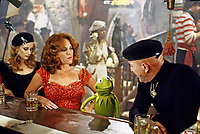 Madeline Kahn and Telly Savalas with Kermit the Frog, Muppet Movie, 1978. Photo by John G. Zimmerman.