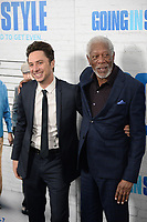 www.acepixs.com<br /> March 30, 2017  New York City<br /> <br /> Zach Braff and Morgan Freeman attending the 'Going In Style' New York Premiere at SVA Theatre on March 30, 2017 in New York City.<br /> <br /> Credit: Kristin Callahan/ACE Pictures<br /> <br /> <br /> Tel: 646 769 0430<br /> Email: info@acepixs.com