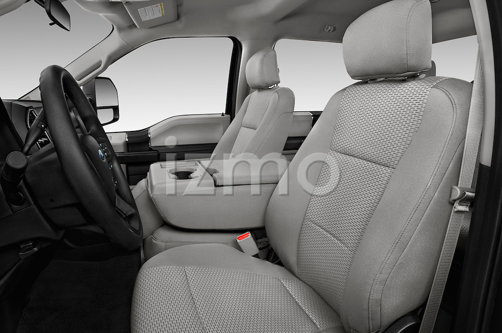 Front seat view of 2017 Ford F-250 XLT-Crew 4 Door Pick-up Front Seat  car photos