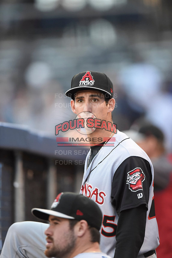 ***Temporary Unedited Reference File***Arkansas Travelers pitcher Danny Reynolds (25) during a game against the Tulsa Drillers on April 28, 2016 at ONEOK Field in Tulsa, Oklahoma.  Tulsa defeated Arkansas 5-4.  (Mike Janes/Four Seam Images)