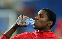 Armando Cooper of Panama drinks water during the international friendly soccer match between Wales and Panama at Cardiff City Stadium, Cardiff, Wales, UK. Tuesday 14 November 2017.