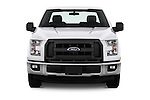 Car photography straight front view of a 2016 Ford F 150 XL 2 Door Pickup Front View